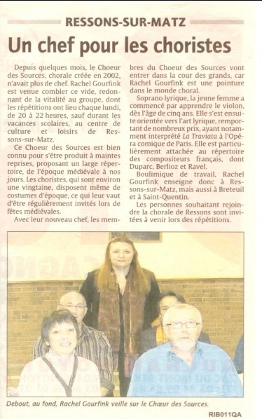 article du Courrier Picard de novembre 2010