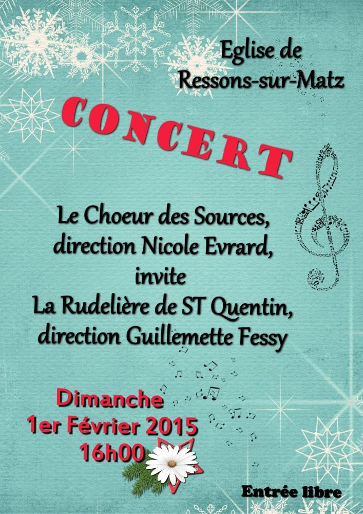 Affiche Catherine concert Ressons Février